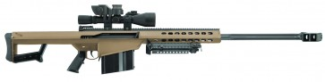 "Barrett 82A1 50 BMG FDE 29"" Leupold Mark 4 M1, BORS,"